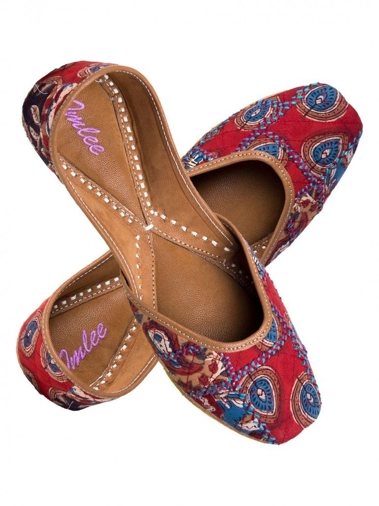 Multicolor Patchwork Embroidered Leather Mojari