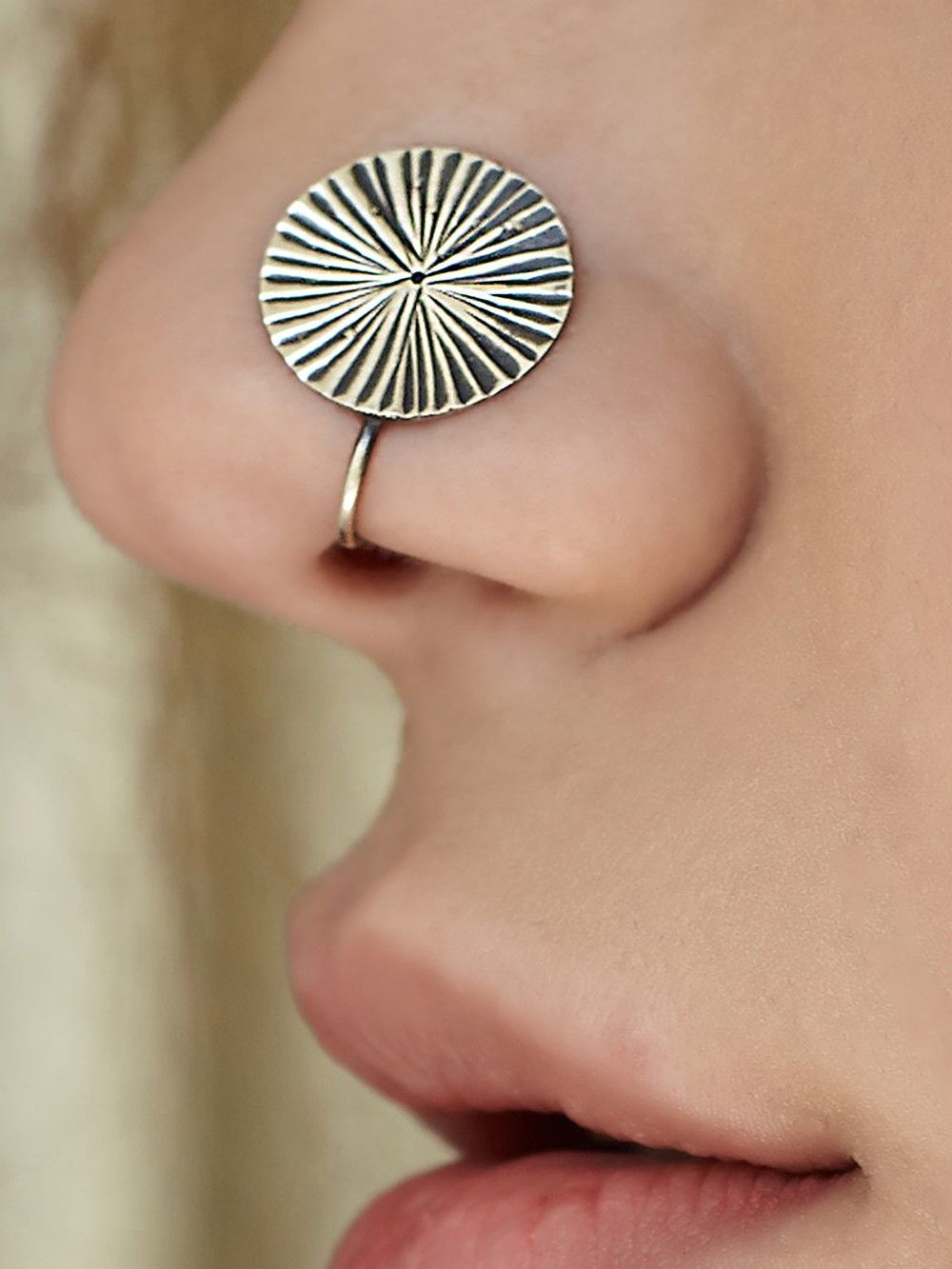 Buy Silver Round Nose Ring Online At Theloom