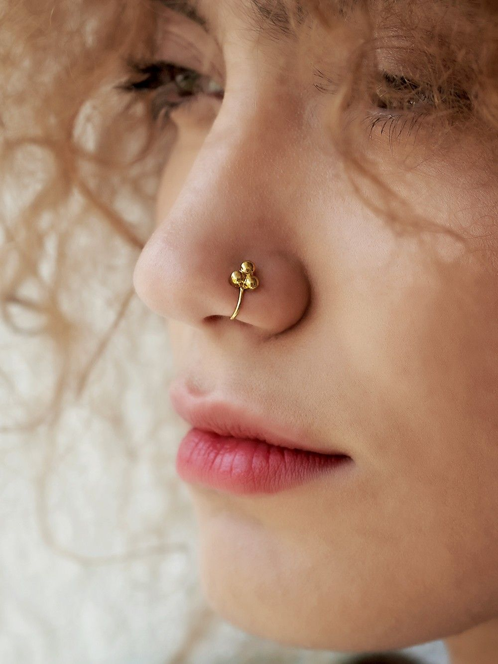Buy Gold Plated Silver Nose Ring Online At Theloom