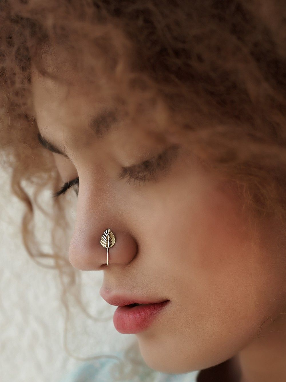 Buy Silver Leaf Nose Ring Online At Theloom