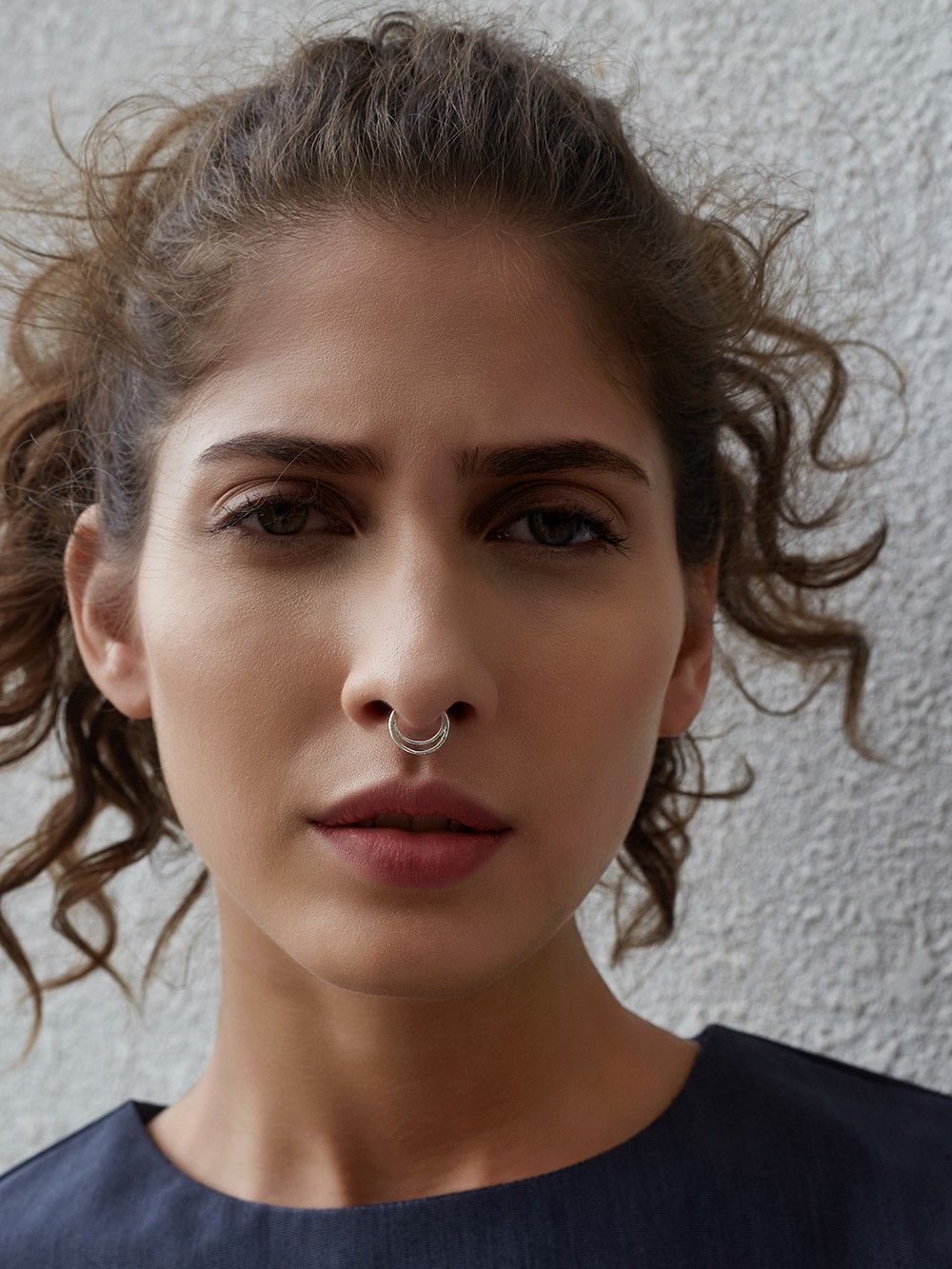Buy Silver Toned Septum Nose Ring Online At Theloom