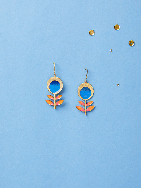 Multicolor Brass Earrings