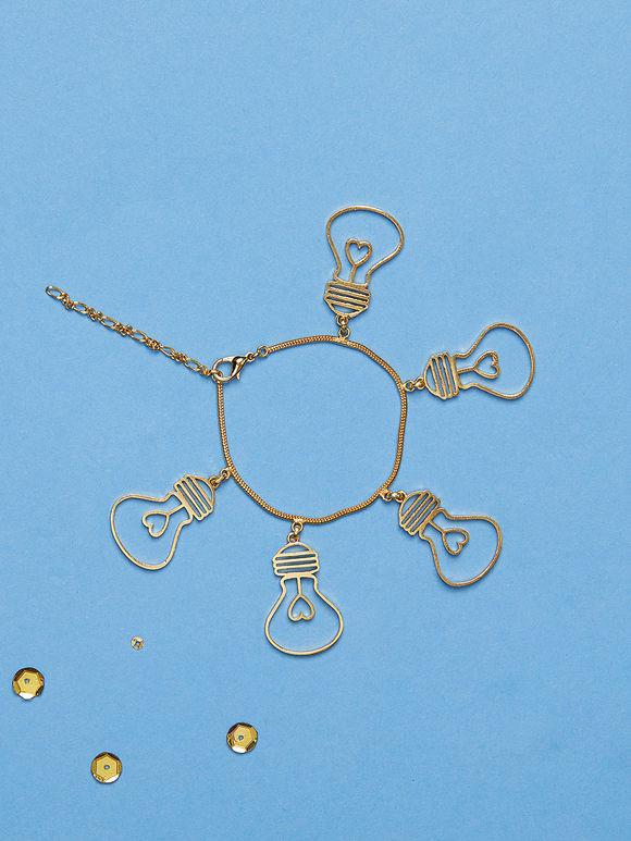 Golden Bulbs Brass Bracelet