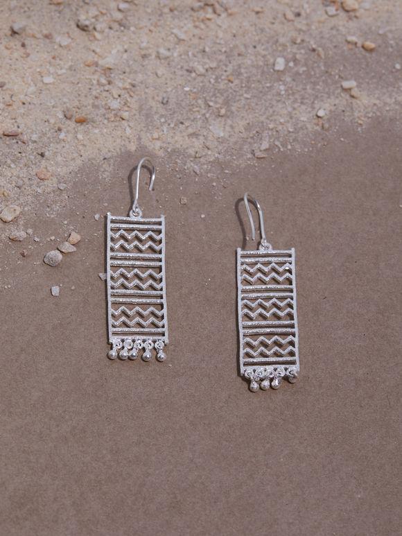 Zectangle Handcrafted Silver Earrings