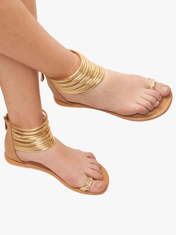 Golden Tan Handcrafted Leatherette Kaya Gladiator