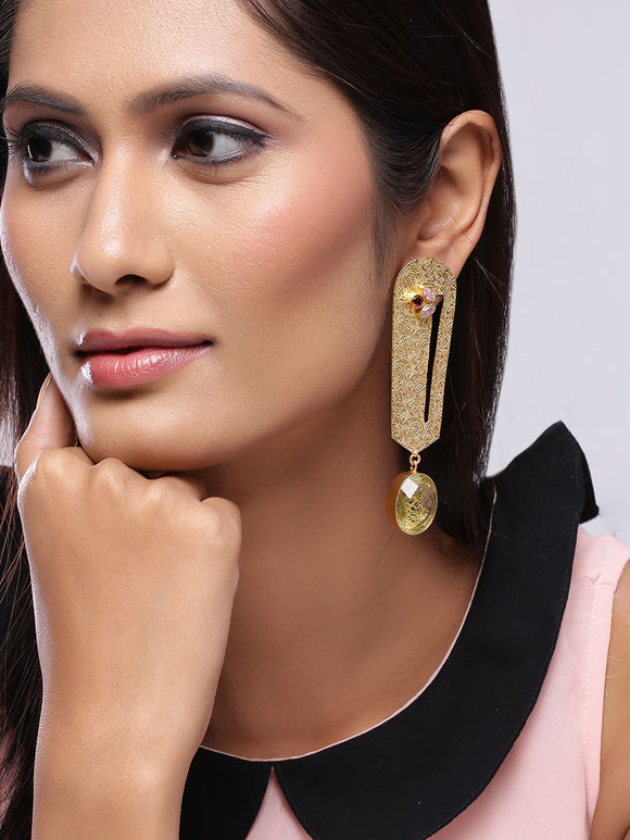 Golden Plated Handcrafted Brass Earrings