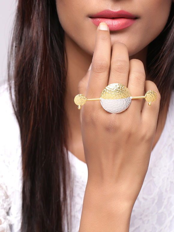 Dual Toned Handcrafted Brass Ring