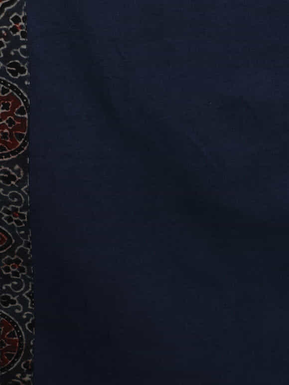Indigo Hand Block Printed Ajrakh  Cotton Table Runner