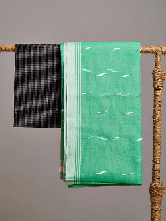 Sea Green Chanderi Silk Saree