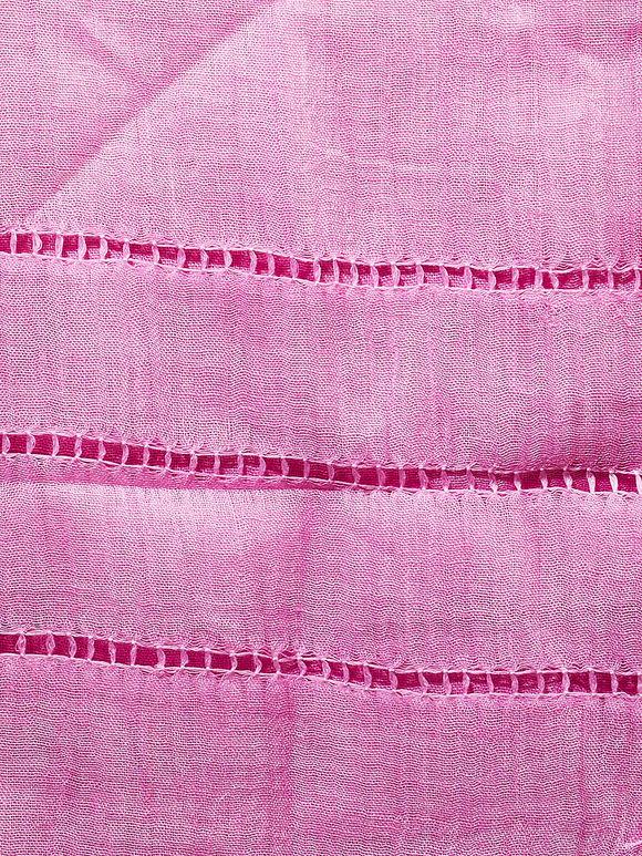 Pink Handwoven Linen Stole