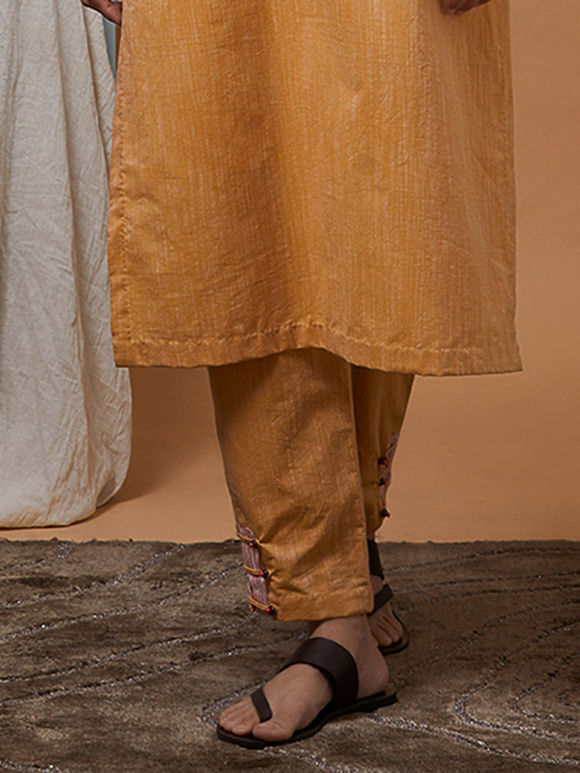Mustard Yellow Cotton Pants