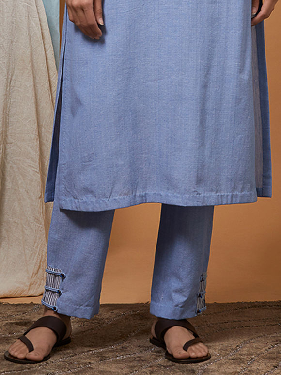 Powder Blue Cotton Pants