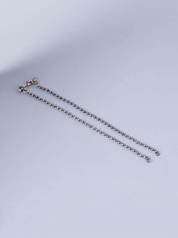 Tribal Silver Handcrafted Anklets - Set of 2
