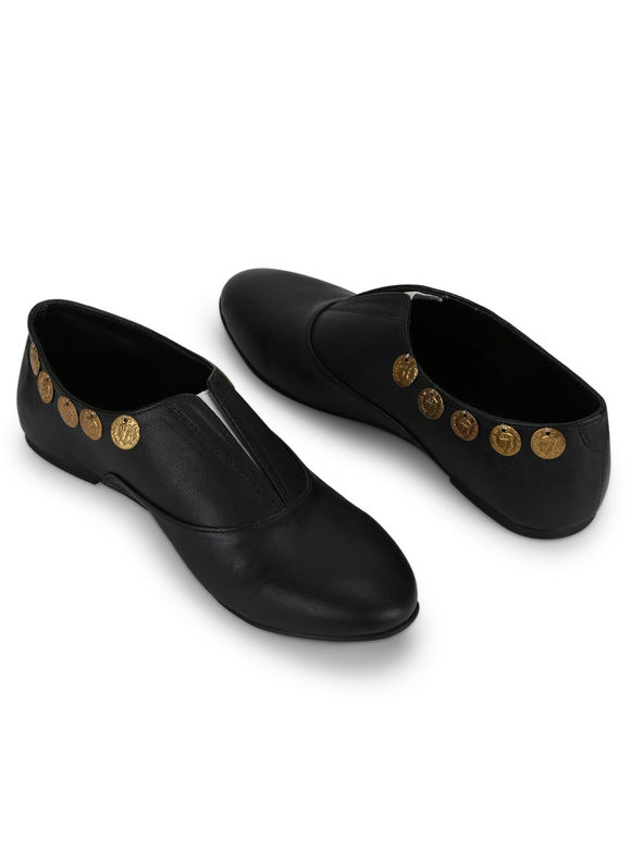 Black Leatherette Handcrafted Shoes