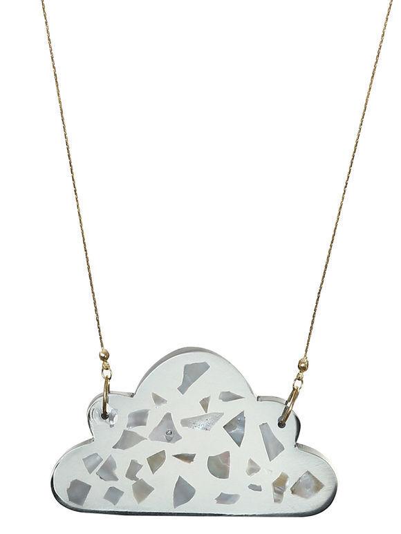 Grey Adri Mosaic Pendant