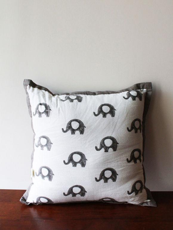 White Grey Hand Block Printed Cotton Bedding Set for Kids - Set of 4
