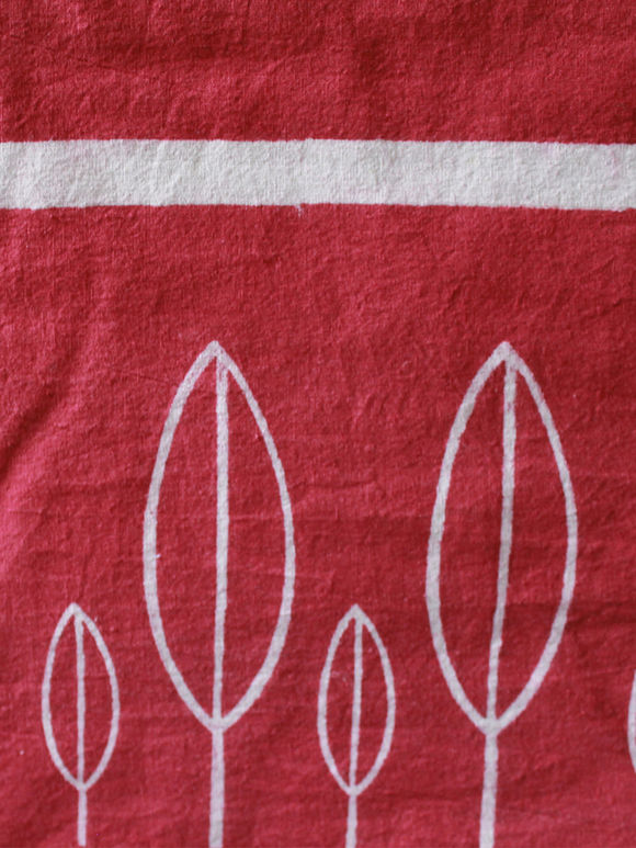 Maroon Hand Block Printed Cotton Table Cover