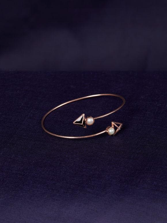 Old Rose Handcrafted Silver Bracelet