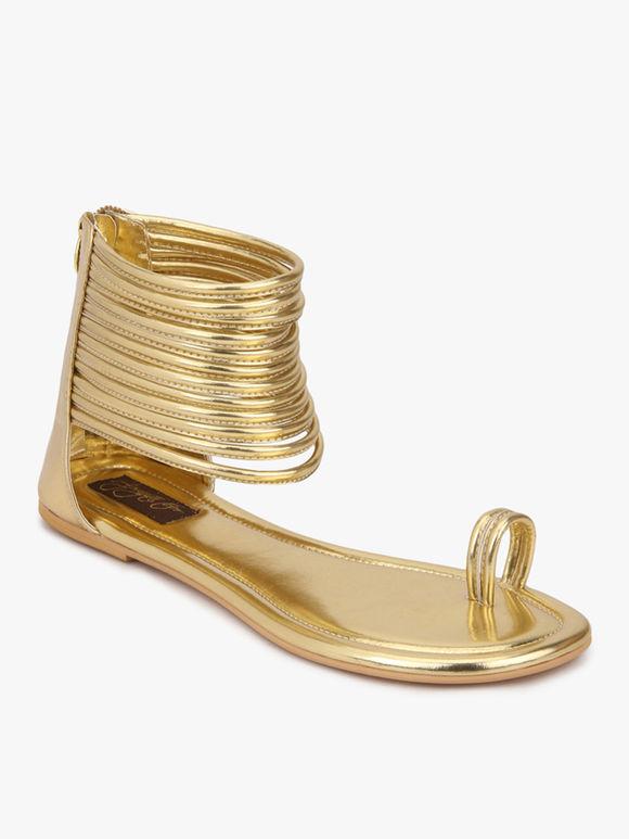 Golden Handcrafted Leatherette Kaya Gladiator