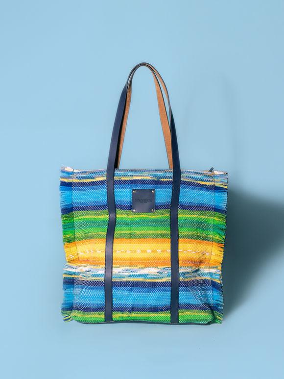 Multicolor Handwoven Fabric Tote Bag