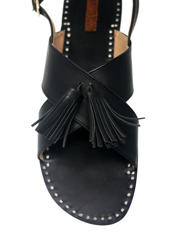 Black Leatherette Flats