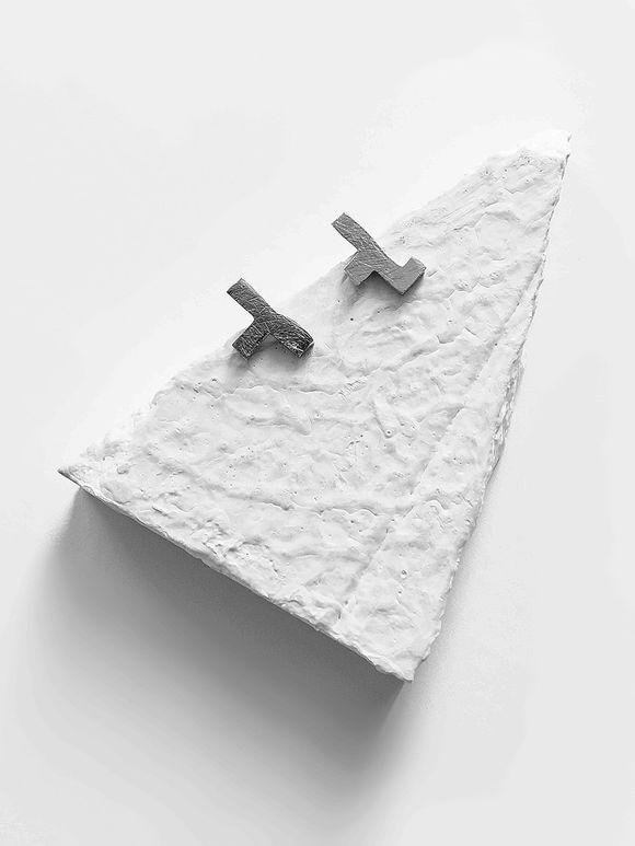 Silver Toned Handcrafted Brass Earrings