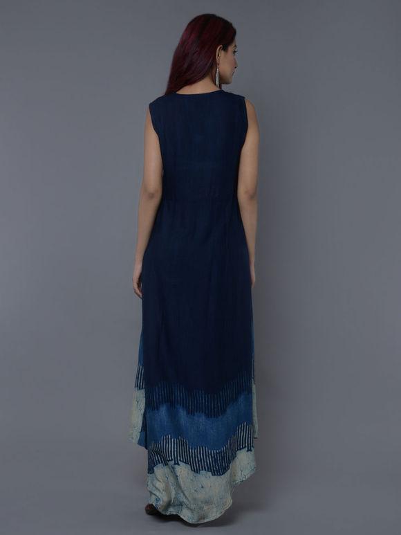 Blue Rayon Dress