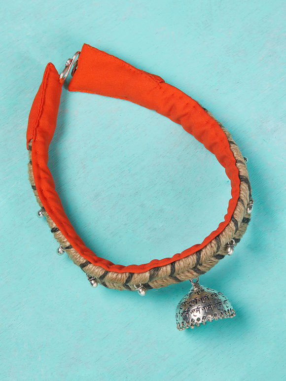 Orange Handcrafted Jute Choker