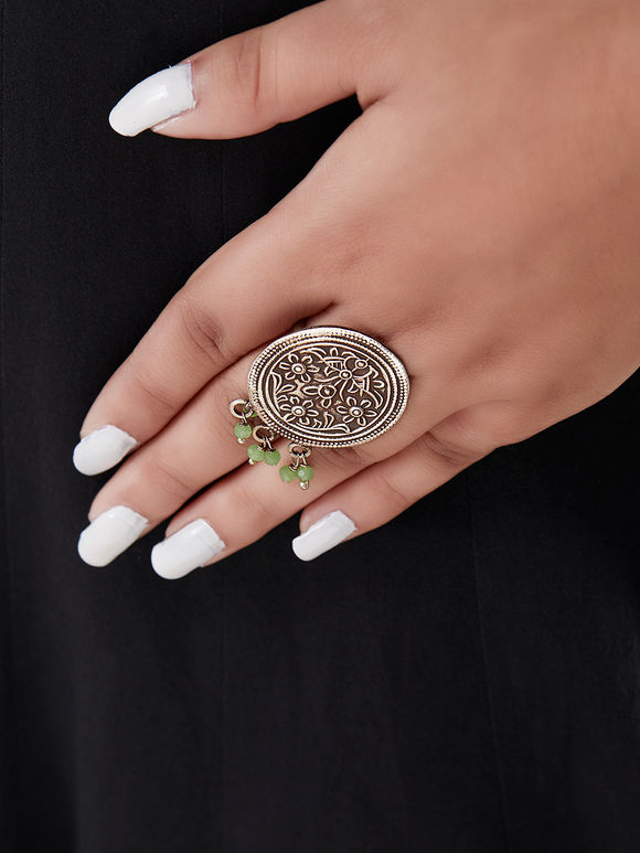 Silver Handcrafted Circle Ring