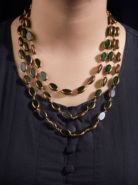 Green Beaded Handcrafted Necklace