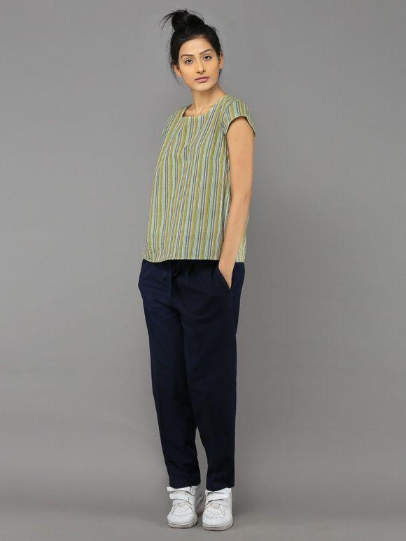 Green Khadi Cotton Top