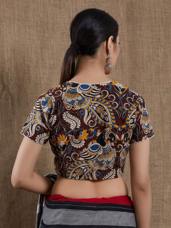 Multicolor Kalamkari Block Printed Cotton Blouse