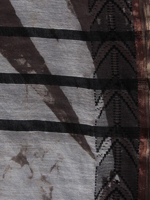 Brown Polka Printed Bhagalpuri Silk Dupatta