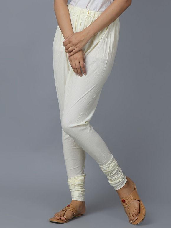 White Cotton Churidar