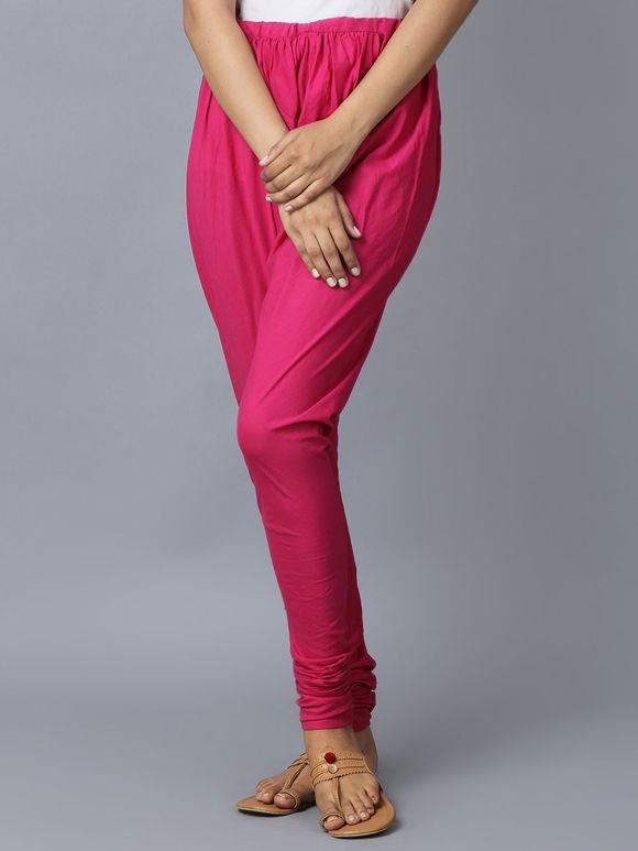 Pink Cotton Churidar