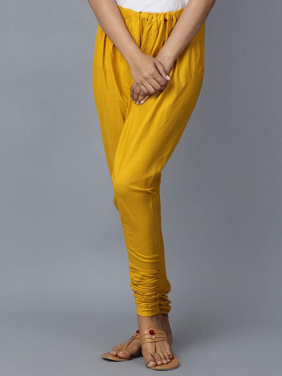 Mustard Yellow Cotton Churidar
