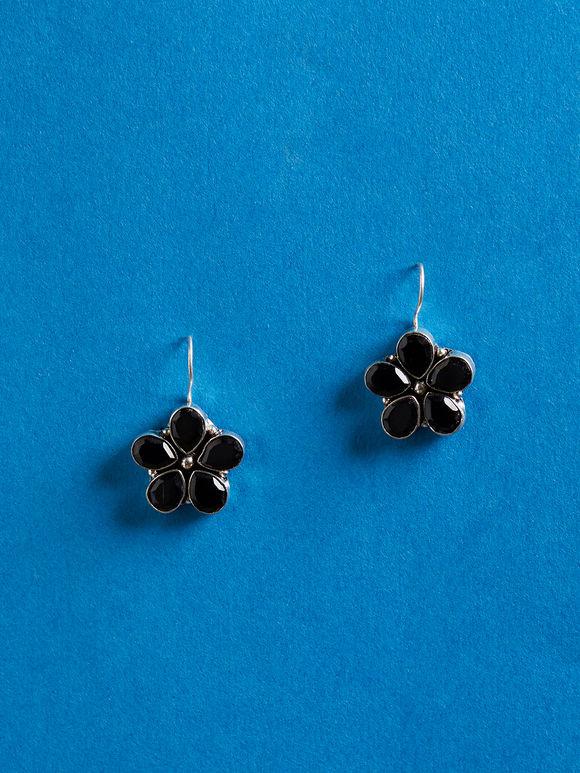 Black Handcrafted Brass Earrings