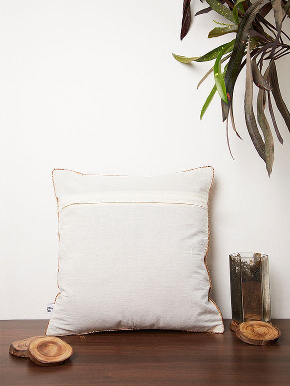 Multicolor Kalamkari printed cotton Cushion Cover