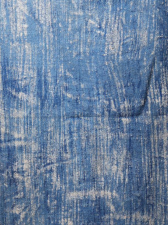Indigo Hand Block Printed Cotton Runner