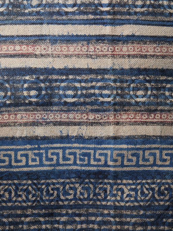 Blue Hand Block Printed Cotton Runner