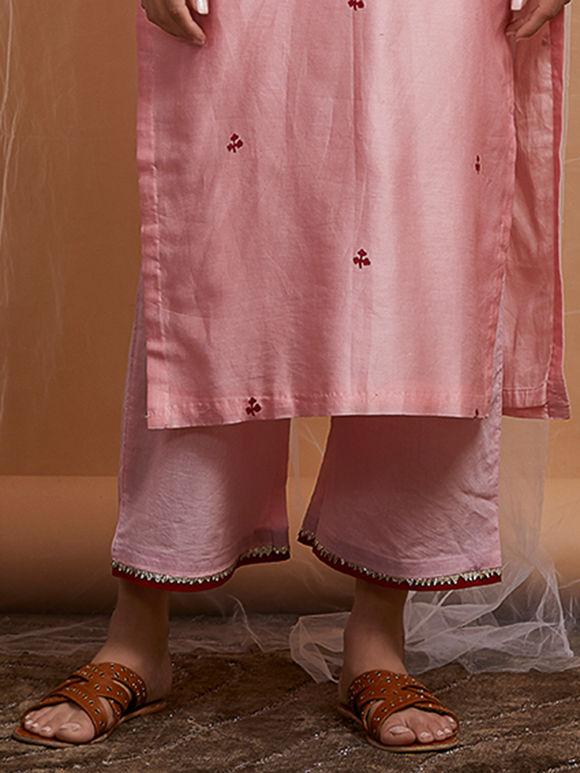 Pink Cotton Cambric Palazzo
