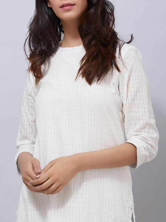 White Hand Woven Khadi Kurta