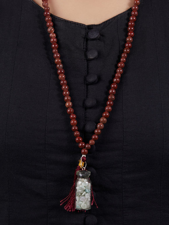 Brown Handcrafted Agate Stones Necklace