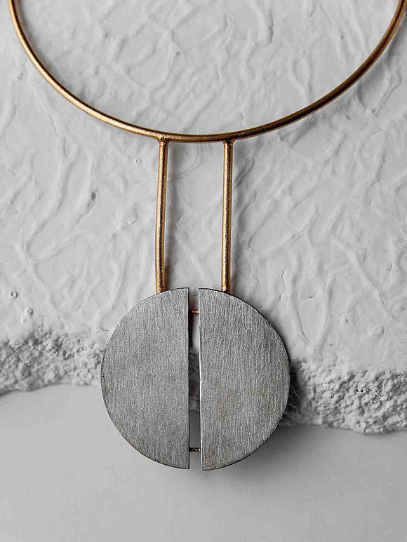 Dual Toned Handcrafted Brass Necklace