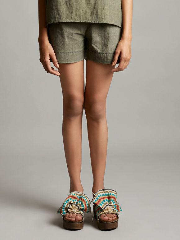 Grey Organic Cotton Shorts