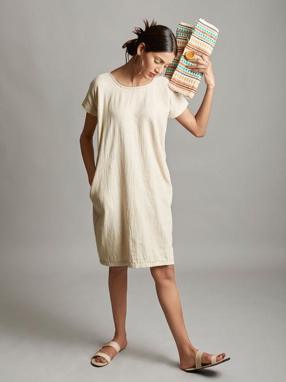 Off White Organic Cotton Dress