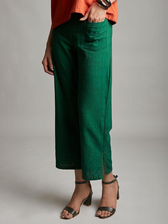 Emerald Green Organic Cotton Trouser