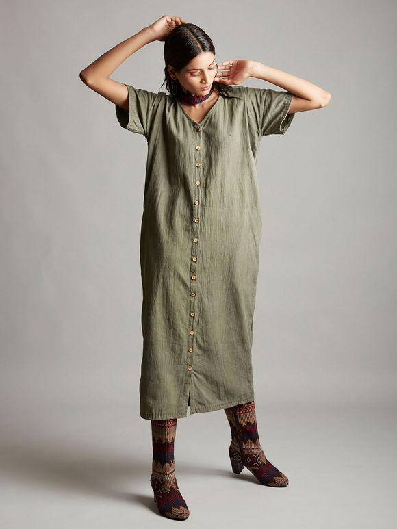 Grey Organic Cotton Dress