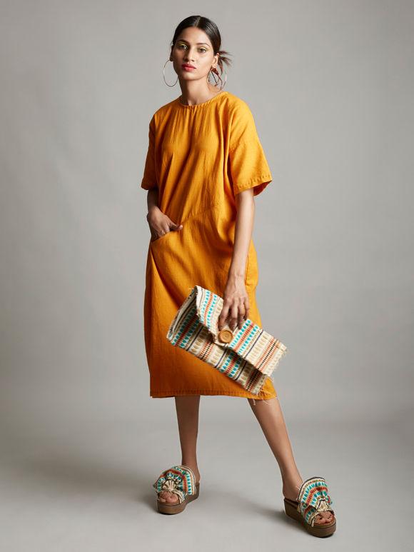 Mustard Yellow Organic Cotton Dress