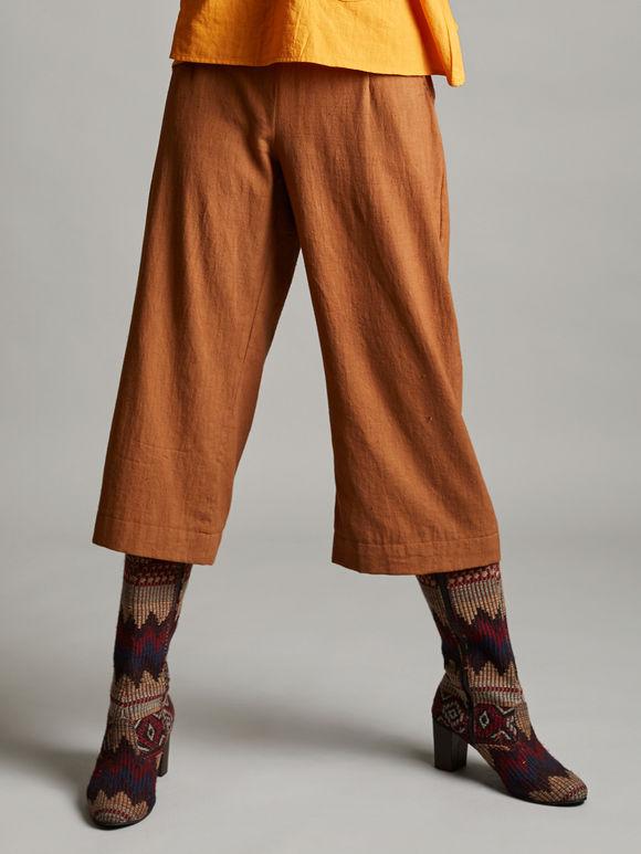Brown Organic Cotton Culottes